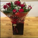 Red Rose Aqua Packed Bouquet