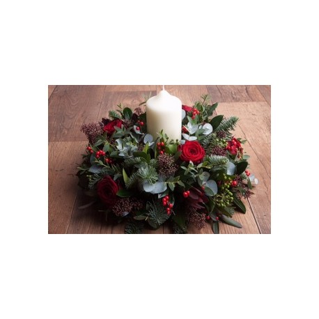 Christmas Table Arrangements Flowers.Christmas Table Arrangements The Flower Box